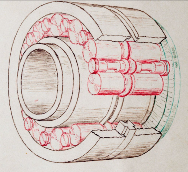 A different view of one of the patent drawings.