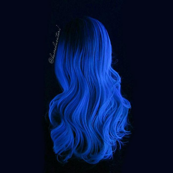 最完美的「鳳凰夜光頭」,一關燈已經顛覆了美髮界!(12張)