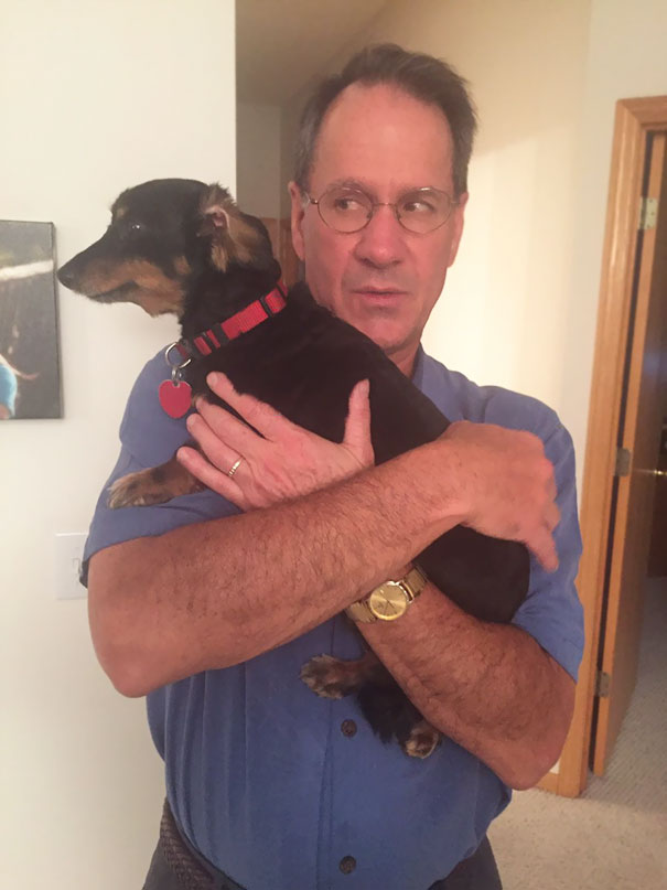 """My Dad Has An Interesting Way Of Showing That He """"Doesn't Like Dogs"""""""