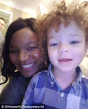 'Happy and healthy is all that matters': Catherine Howarth pictured with Jonah