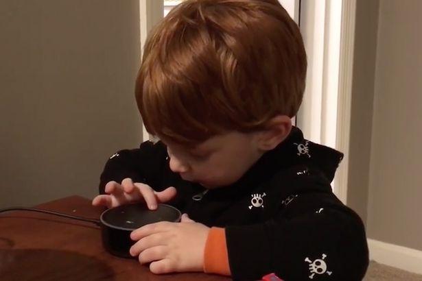 男童對智慧型管家點播歌曲「播小星星」,它開始回答「肛愛愛、口愛、愛愛」男孩提早長大。