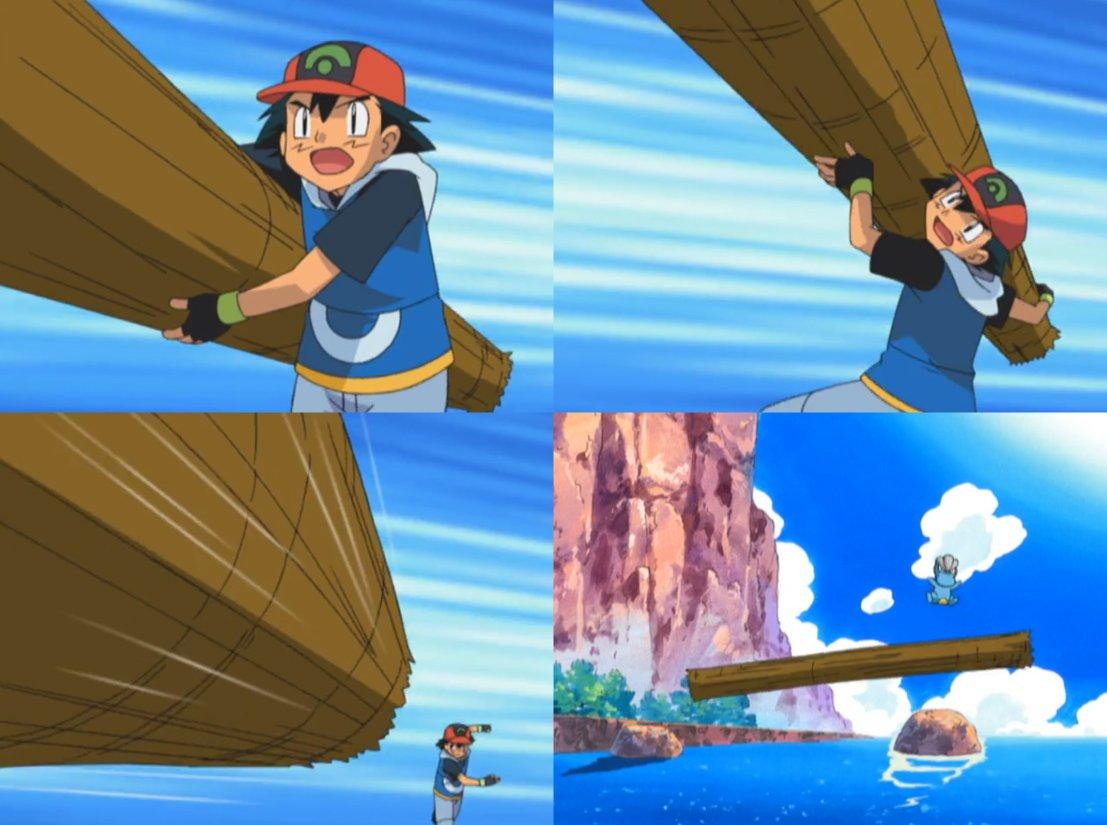 小智在新版動畫中「連木頭都搬不起來」,粉絲翻出舊畫面「作者把小智從浩克變廢物了」!