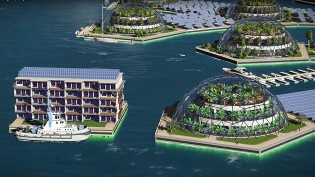 世界上第一個「海中之都」近看超美都市,人類很快「可移民大海」!