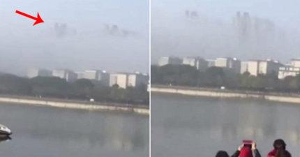 中國驚現「神秘漂浮天空之城」影片瘋傳!「2年來第2次」外星人入侵地球!