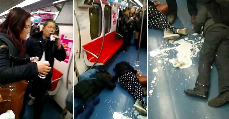 北京地鐵爆「8人集體喝農藥自殺」,目擊者拍下「暴斃過程」太驚悚…(影片)