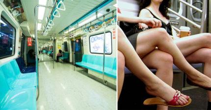 捷運正妹睡手臂暗爽到爆,她下車後「胯下狠濕一片」滴不停!網友笑慘:「難怪座椅向內凹!」