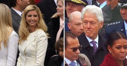 克林頓被拍到「色色的偷看伊凡卡」被希拉蕊慘抓包,網友:「充滿愛的眼神...」