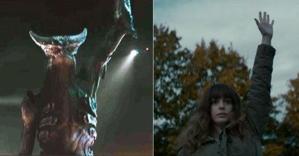 新電影《龐大》預告片,安海瑟威與怪獸「連結在一起」最後跳舞差點毀了南韓...