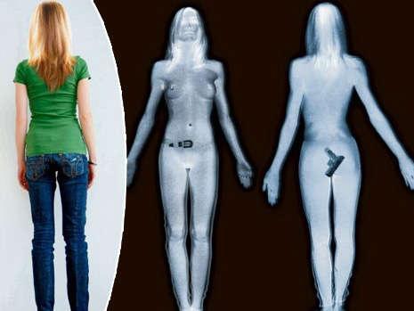 女生過安檢不知道X光可看到她全裸,看到安檢人員螢幕秒暴怒!