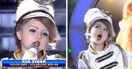7歲小女孩「1比1」超強演唱小泰勒絲成名曲,網友嗆「怎麼這樣教!」