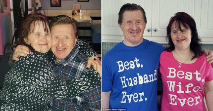 第一對結婚的唐氏症夫妻「攜手走過22年」一樣恩愛,求婚時還是用玩具戒指「還好媽媽看不過去」!