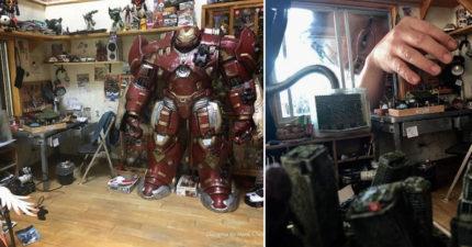超狂台男「100%神複製自己房間」 退一步看「哥吉拉場景」直接紅到日本去!
