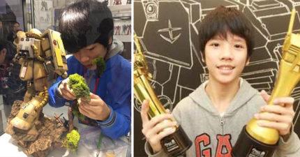 台灣國二生成績一直及格邊緣,奪「鋼彈模型製作家全球盃冠軍」嚇壞日本人。世界級技術「連社長都大讚」!(6張)