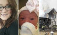 家裡大火21歲機智媽媽「把寶寶丟下2樓」自己卻留下,經驗豐富的消防員也心痛崩潰...