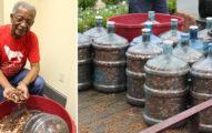 老伯45年「存15桶大水罐」超有毅力,銀行5小時清點「51萬枚硬幣」金額嚇死人!