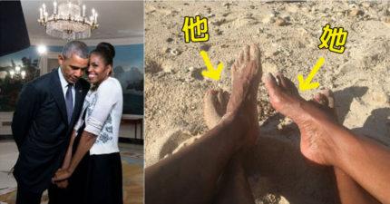 歐巴馬夫婦剛才互相對發「情人節爆閃短文」,現在全美國的人都瞎了!