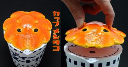 爆可愛橘色的「小章魚」,可以替你「把關」讓杯麵又熱又可口!(內有購買連結)