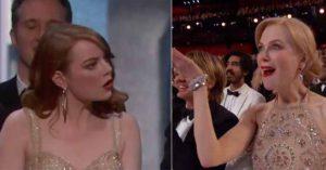奧斯卡頒錯獎烏龍「23個觀眾的下巴掉下來反應」比台上更精采!雷恩葛斯林笑得太賊「像幕後兇手」。