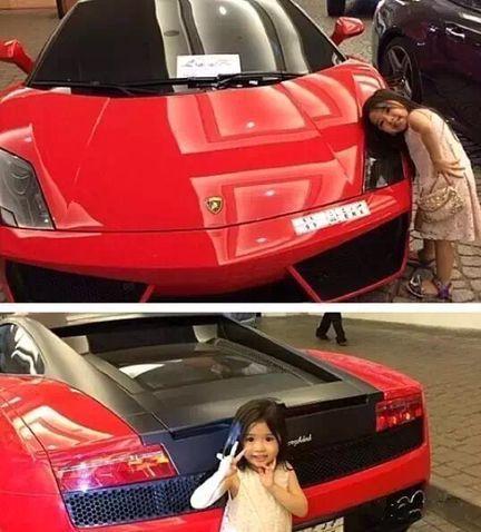 小女孩萌到「阿拉伯土豪」決定養她全家 超跑接送直接變乾爹!