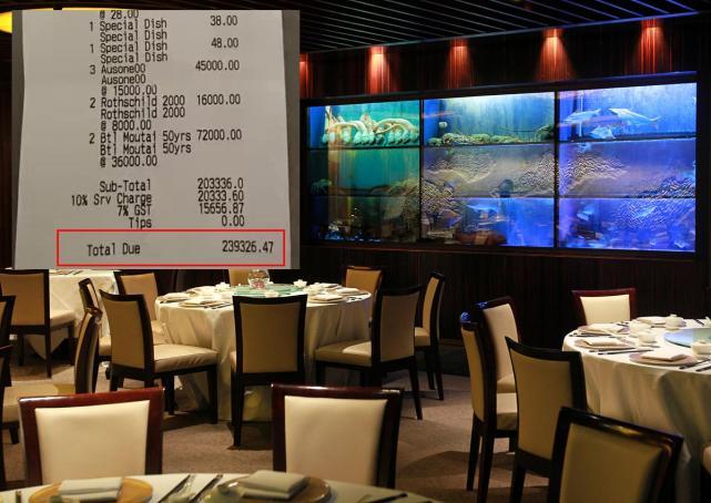 20人高檔餐廳吃無菜單年夜飯結帳驚見「530萬天價」,新加坡人看明細:「一人吃26.5萬還算合理。」