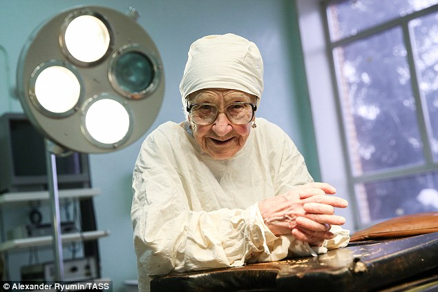 The patient said of Alla (pictured), 'She palpitated me with her firm fingers - all doubts gone.'
