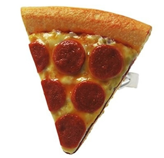 And the cheesiest of tokens, because nothing says they have a pizza your heart like a slice of pepperoni.