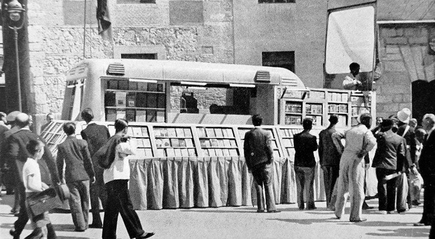 Bookmobile In Madrid Spain