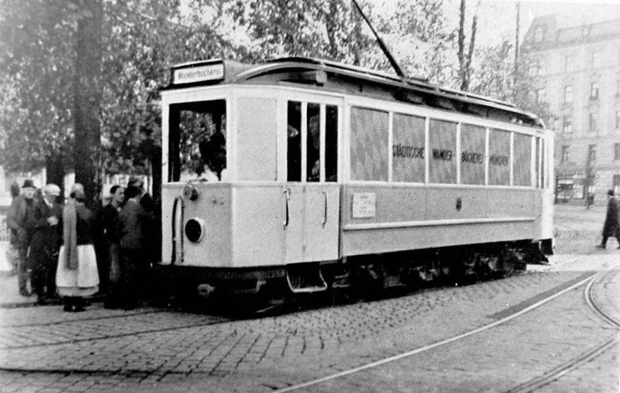 A Circulating Library In A Streetcar In Munich, Germany