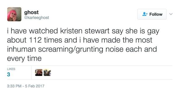 史都華自嘲「暮光戀」偷吃分手,嗆川普暗戀羅伯派汀森「而且我超gay」!