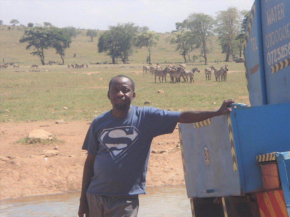 Regardless of funds, Mwalua will find a way to keep hydrating the animals of his homeland. Talk about a random act of kindness.
