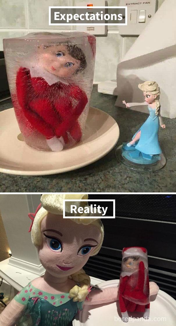 Beware Of Leg Placement When Freezing An Elf