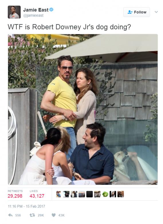 小勞勃道尼8年前「和老婆的度假照」網路瘋傳!光天化日下超害羞「色色亮點」讓全網路暴動了!