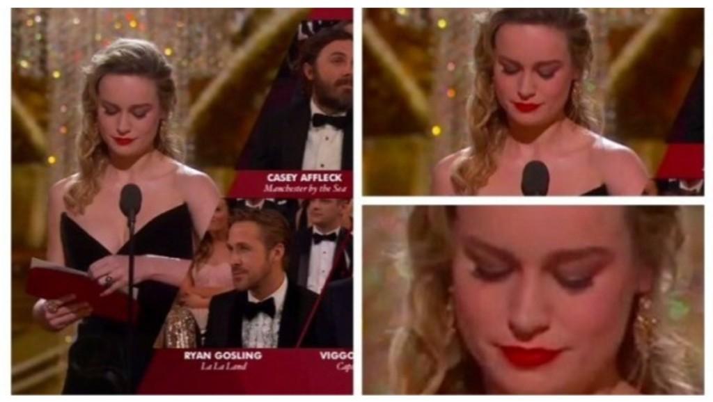 凱西·艾佛列得獎時,布麗拉森「臭臉抗議+不肯拍手」讓網友們感動!