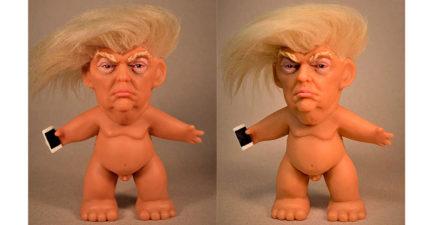 全裸「100%川普巨魔娃娃」網路爆紅!轉過來「兒童不宜」7天成功吸金百萬!(5張)