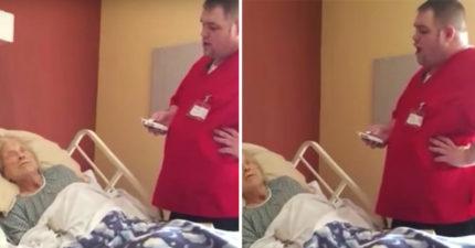 他在養老院發現「小時候音樂老師」病危在床,默默拿起手機「開口」600萬網友秒淚崩!(影片)