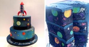 6個切開讓人驚喜尖叫連連的「浩瀚外太空藝術蛋糕」。#4星際大戰餅乾太犯規了!