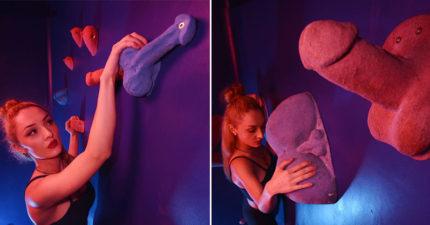 史上首座「色色攀岩場」!超害羞3D人體部位「摸奶抓GG」才能往上爬!