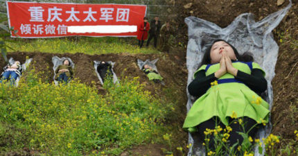 中國太太軍團自願「睡墳墓」靜靜死去,她們「非死不可」原因讓全世界女生不能再同意更多!