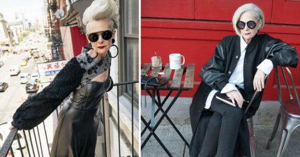 64歲「奶奶級時尚部落客」顛覆時尚界!招牌銀髮紅唇「拒絕P掉皺紋」帥翻全網路!(13張)