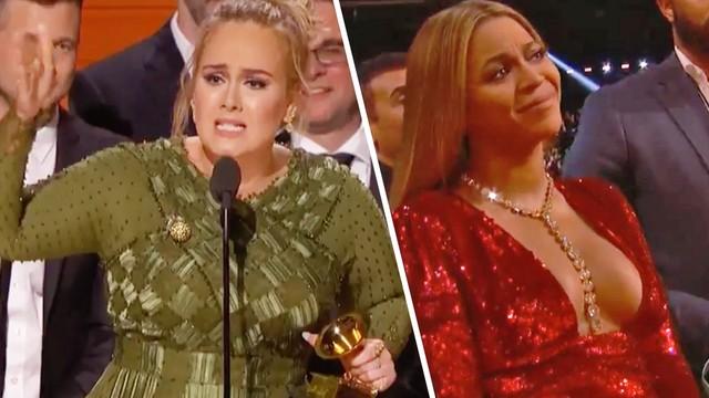 愛黛兒「二度完封」葛萊美竟把獎座「掰兩半」給對手碧昂絲!她說:「我不能接受!」(影片)