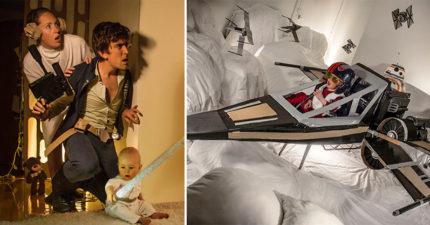 30張爸媽用「硬紙板」」讓2歲小童「穿梭各大電影情節」照片!