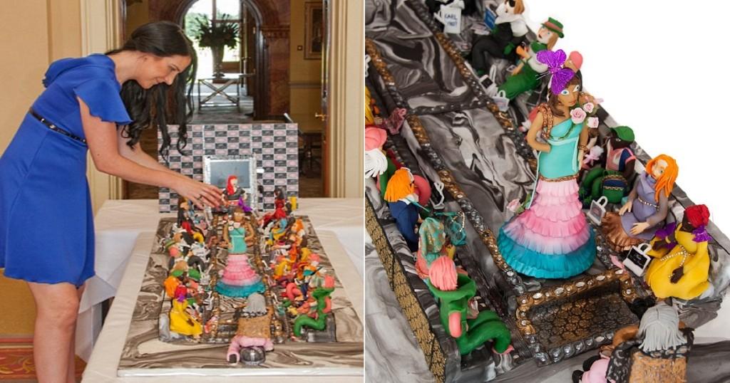 超閃片/世界最貴伸展台蛋糕「要價23億」 近看人物身上裝飾眼睛都要被閃瞎!