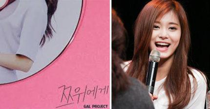 周子瑜的美「煞到」韓國歌手,推出告白單曲《給子瑜》歌詞太大膽網友:「想報警!」(影片+歌詞)