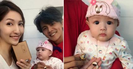 阿翔炫耀女兒「舒芙蕾」照片,網友被萌爆:「大眼混血寶寶!」