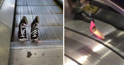 17張對電扶梯有恐懼感的人可能會「看不完」的可怕照片!