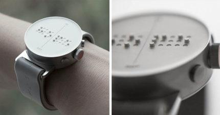 世界首支「點字智慧型手錶」,讓視障人士保有隱私下「讀簡訊」!