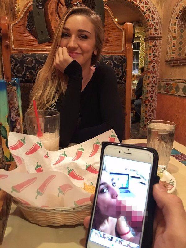 男子用交友軟體約女生吃飯,發現超面熟「拿手機搜尋」找到口愛影片...