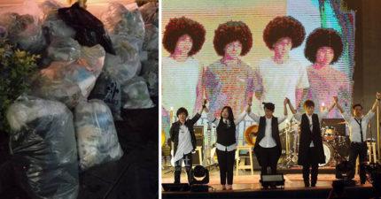演唱會結束超過3萬五月天歌迷撿垃圾「還原現場」,市府大讚五月天粉絲「台灣最高品質」!