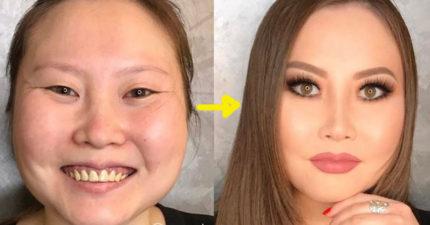 14張證明你該對化妝師好一點的「沒PS過化妝前後驚人落差對比照」!#11再也不相信人類!