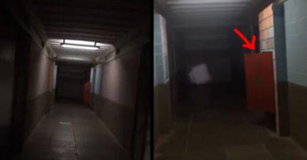 死去的幽靈不爽被困在太平間裡,不停超用力關門「守衛去檢查畫面」讓人嚇到哭!(影片)